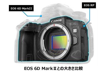 EOS6D MarkIIとの大きさ比較