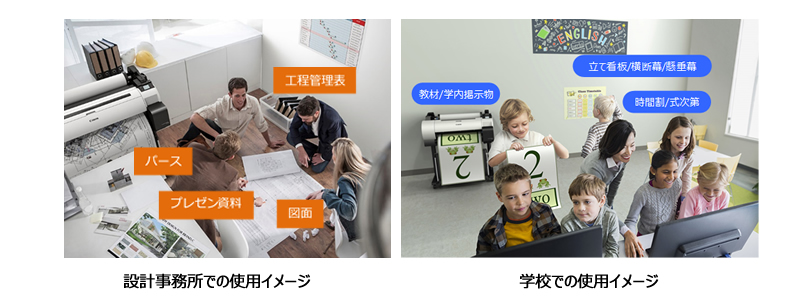 使用イメージ 設計事務所と学校